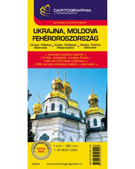 Cartographia  - Ukrajna/Fehéroroszország/Moldova autótérkép
