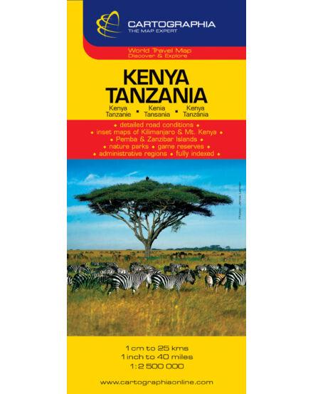Cartographia  - Kenya, Tanzánia térkép