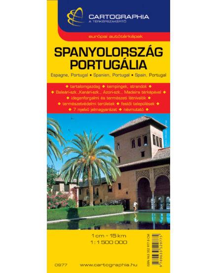 Cartographia  - Spanyol- Portugália autótérkép