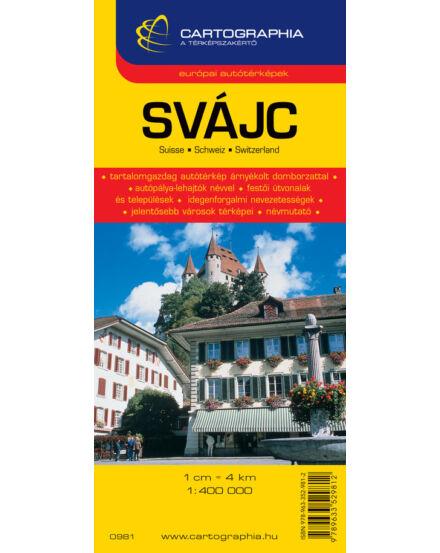 Cartographia  - Svájc autótérkép