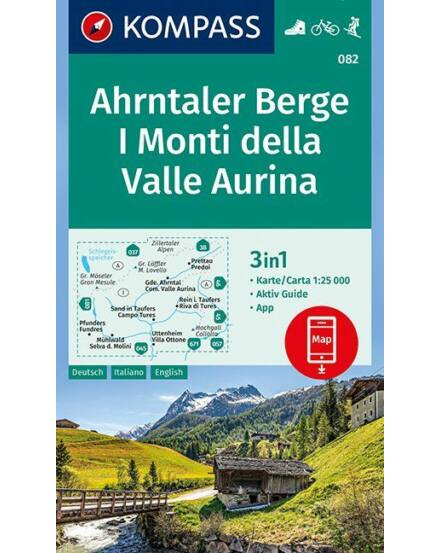 Cartographia  - Ahrntaler Berge /I Monti della Valle Aurina turistatérkép