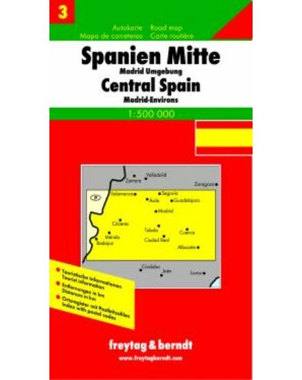 Cartographia  - Spanyolország 3. Közép-Spanyolország térkép