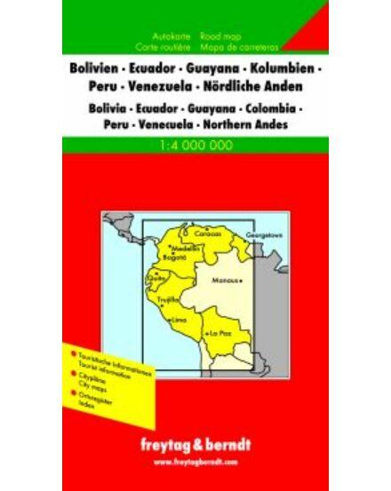 Cartographia  - Bolívia-Ecuador-Guyana térkép