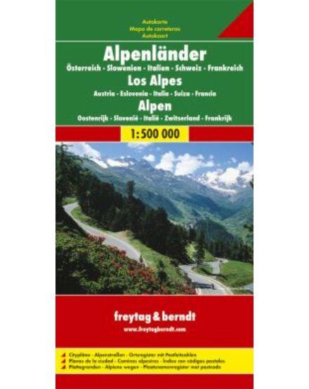 Cartographia  - Alpok országai térkép