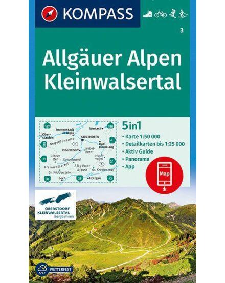 Cartographia  - K 3 Allgäuer Alpen, Kleinwalsertal turistatérkép
