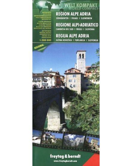 Cartographia  - Alpok-Adria régió térkép world compact