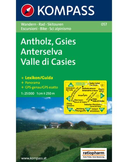 Cartographia  - KOMPASS Wanderkarten: Antholz-Gsies /Anterselva-Valle di Casies turistatérkép