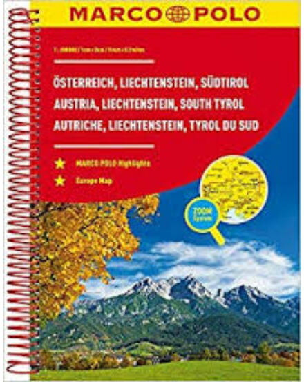 Cartographia  - Ausztria, Lichtenstein, Dél-Tirol atlasz
