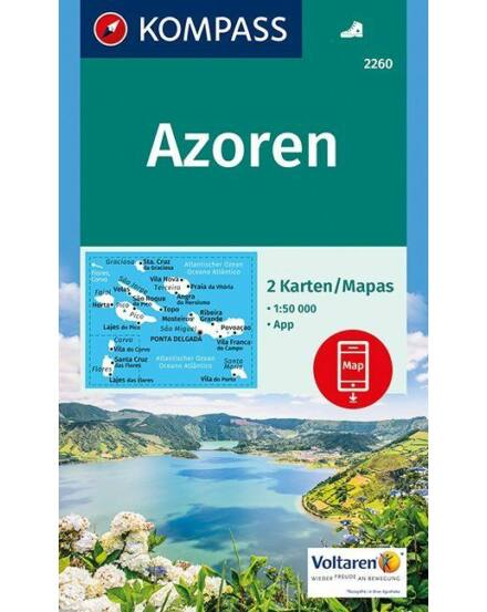Cartographia  - K 2260 Azori-szigetek turistatérkép