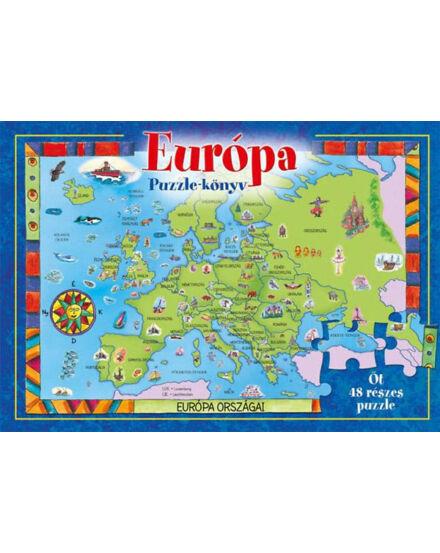 Cartographia  - Európa - puzzle könyv