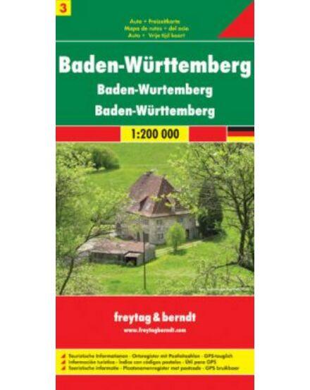 Cartographia  - Németország résztérkép 3 - Baden-Württemberg