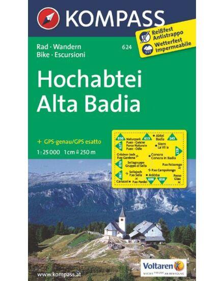 Cartographia  - Hochabtei - Alta Badia turistatérkép