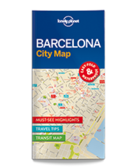 Cartographia  - Barcelona laminált térkép