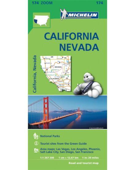 Cartographia  - Kalifornia, Nevada térkép