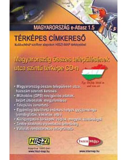 Cartographia  - Magyarország E-atlasz 1.5 - Térképes címkereső CD-ROM