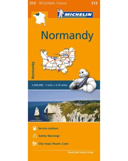 Cartographia  - Normandia régiótérkép - Michelin 513