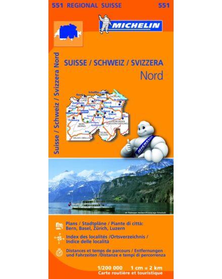 Cartographia  - Svájc észak térkép