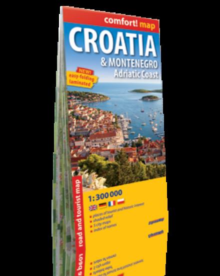 Cartographia  - Horvátország, Montenegro térkép