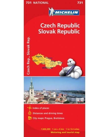 Cartographia  - Csehország, Szlovákia térkép - Michelin 731