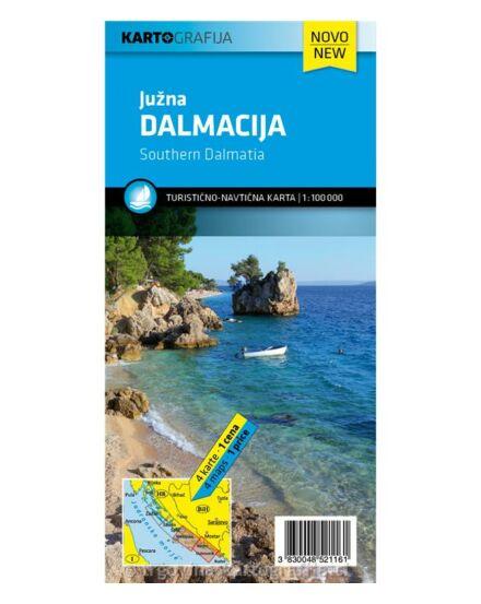 Dalmácia turisztikai és hajózási térkép