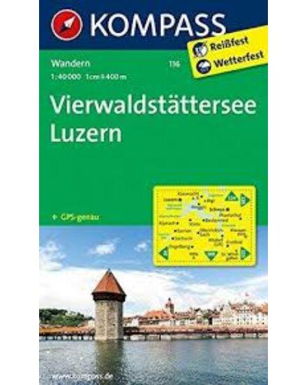 Cartographia  - K 116 Vierwaldstatter-see-Luzern turistatérkép