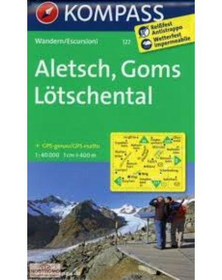Cartographia  - K 122 Aletsch,Goms,Lötschental turistatérkép