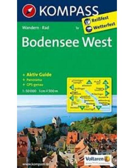 Cartographia  - K 1a Bódeni-tó Nyugat turistatérkép