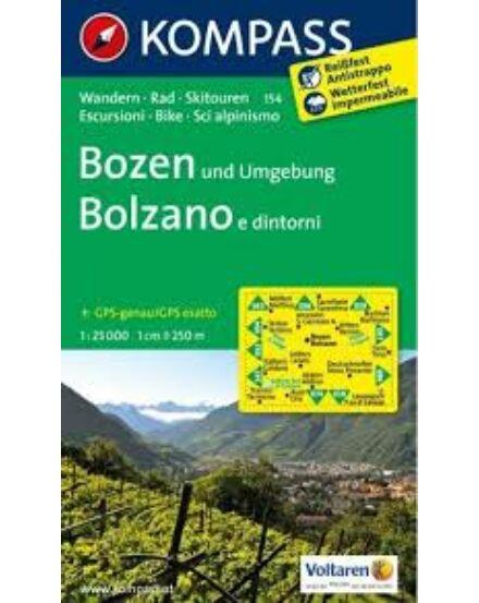 Cartographia  - K 154 Bozen és környéke turistatérkép