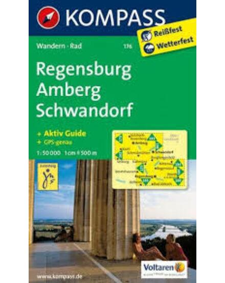 Cartographia  - K 176 Regensburg és környéke turistatérkép