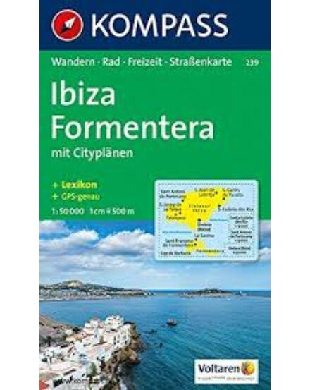 Cartographia  - K 239 Ibiza, Formentera turistatérkép