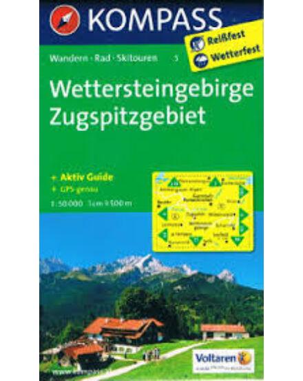 Cartographia  - KOMP 5 Wettersteingebirge, Zugspitzgebiet turistatérkép