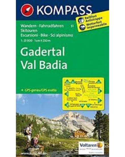 Cartographia  - K 51 Gadertal / Val Badia turistatérkép