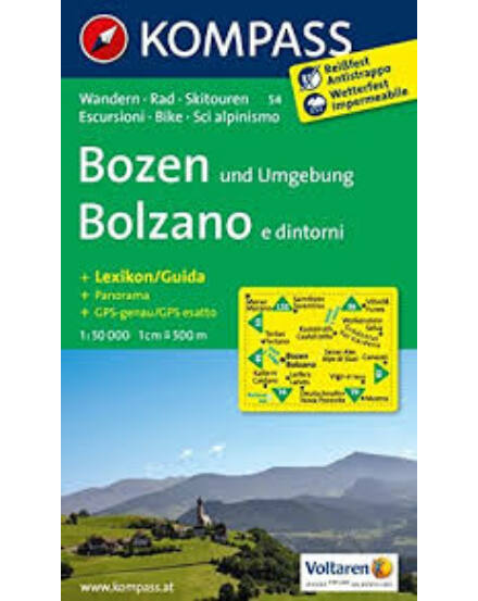 Cartographia  - K 54 Bolzano turistatérkép