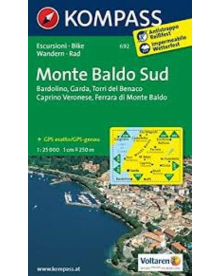 Cartographia  - K 692 Monte Baldo Dél turistatérkép