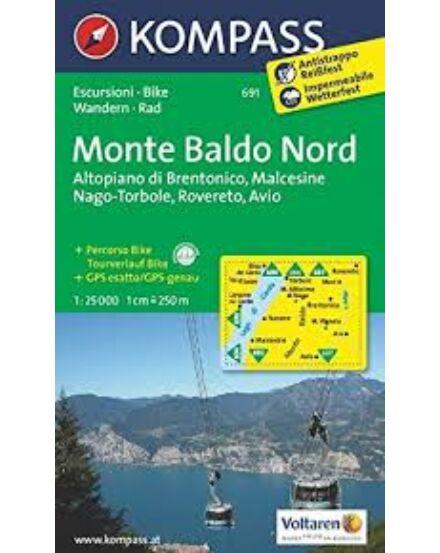 Cartographia  - K 691 Monte Baldo Észak turistatérkép