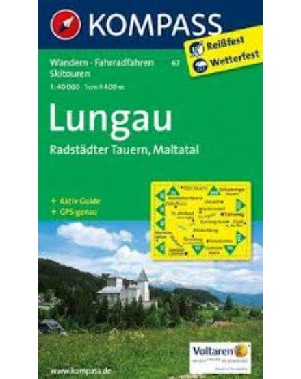 Cartographia  - K 67 Lungau, Radstädter Tauern turistatérkép