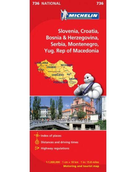 Cartographia  - Szlovénia, Horvátország, Bosznia-Hercegovina térkép (736)