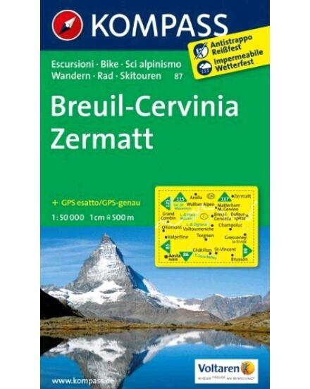 Cartographia  - Breuil-Cervinia-Zermatt turistatérkép