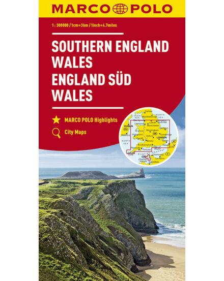 Cartographia  - Anglia déli rész, Wales térkép