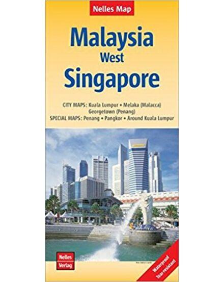 Nyugat-Malajzia, Szingapúr térkép