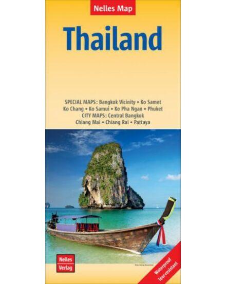 Thaiföld térkép Nelles
