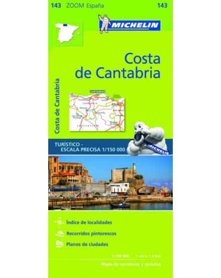Cartographia  - Costa de Cantabria 143 Michelin