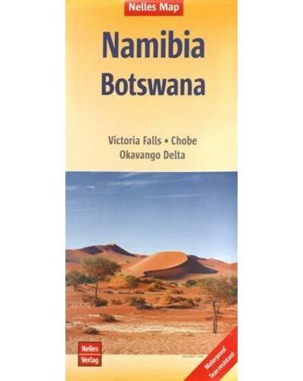 Namíbia, Botswana térkép