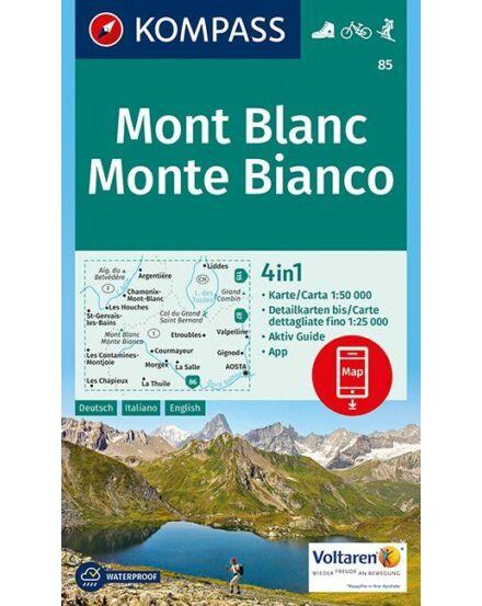 Cartographia  - K 85 Mont Blanc turistatérkép