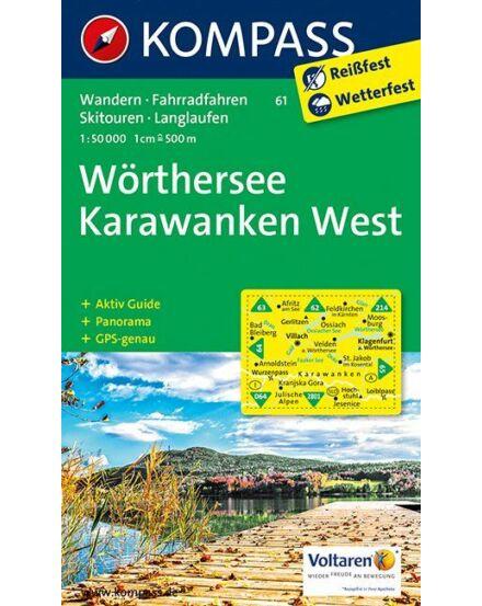 Cartographia  - Wörthersee Karawanken turistatérkép