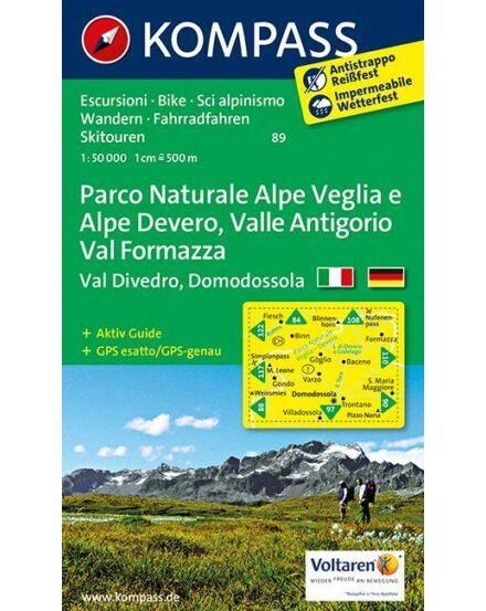 Cartographia  - Parco Naturale Alpe Veglia e Alpe Devero, Valle Antigorio, Val Formazza, Val Divedro, Domodossola turistatérkép