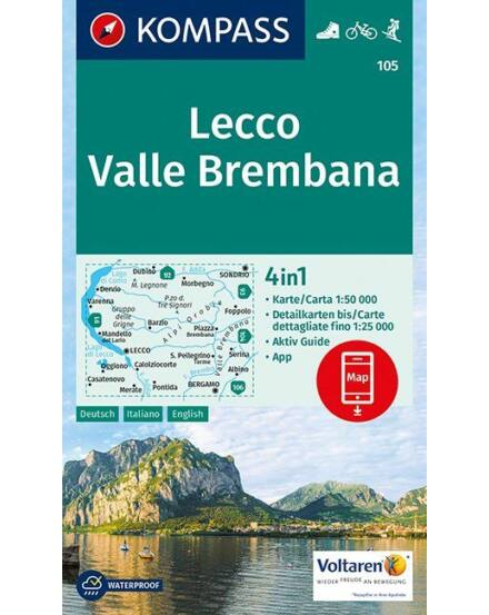 Cartographia  - Lecco /Valle Brembana turistatérkép