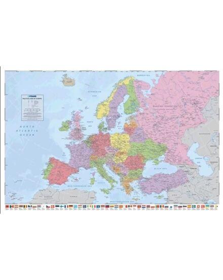 Cartographia  - Európa országai falitérkép - keretes