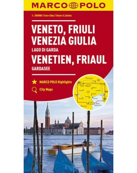 Cartographia  - Olaszország résztérkép - Veneto, Friuli, Garda-tó
