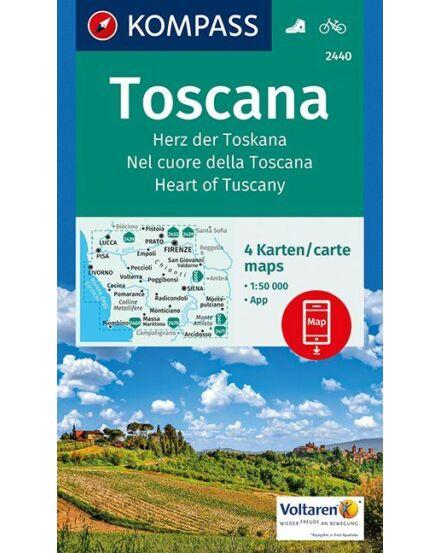 Cartographia  - K 2440 Toszkána turistatérkép